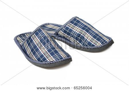 Slippers isolated over white with clipping path