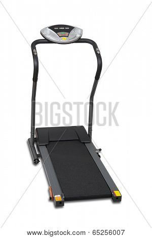 Treadmill isolated over white with clipping path