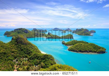 Bird Eye View Of Angthong National Marine Park, Koh Samui, Thailand