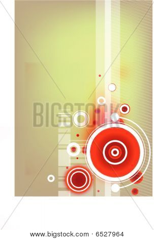 artistic vector wallpaper with abstract circles on it poster
