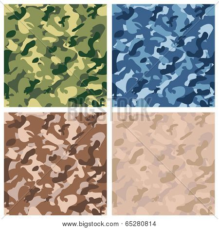 Seamless digital terrain camouflage pattern. Vector.