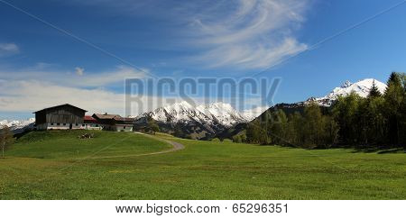 Panorama Of Austrian Alps