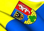 Flag of Gorlitz District, Germany. Close Up. poster