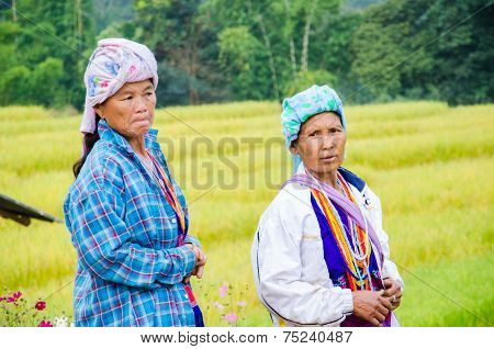 Tribal in traditional dress.