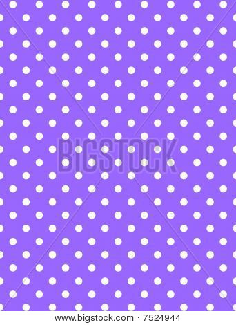 Jpg. Purple Background with White Polka Dots
