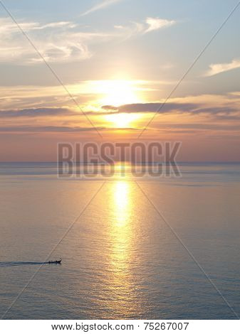 Wonderful sunset at the sea