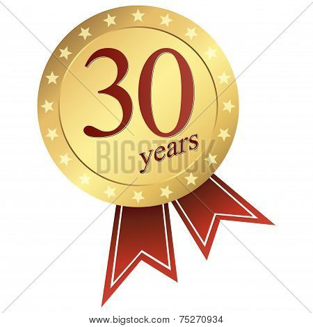 Gold Jubilee Button - 30 Years