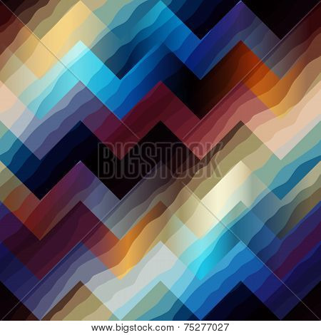 Seamless background pattern. Chevron pattern with diagonal waves. poster