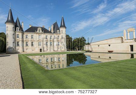 Chateau Pichon-longueville With Pond Pauillac