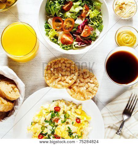 Fresh Continental Breakfast. Healthy Food.