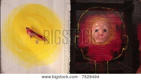 Bird & Child Doll Face
