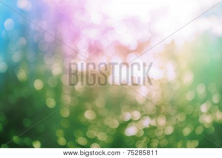 Circular Bokeh Background