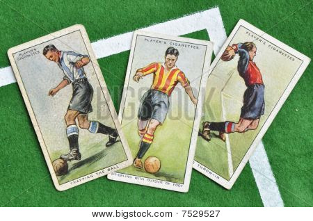 small collection of cigarette cards