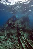 Wreck German freighter Kormoran - sank in 1984 Tiran poster