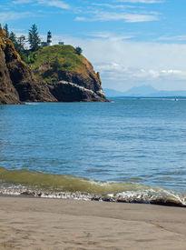 Cape Disappointment Lighthouse On The Washington Coast Usa