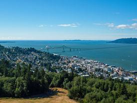 A View Of Astoria Oregon From The Astoria Column