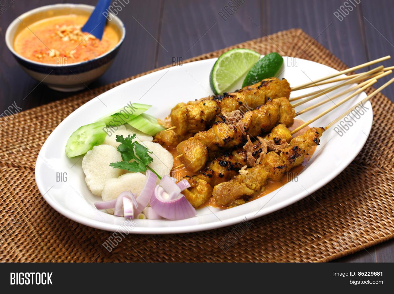 Chicken Satay Sate Image Photo Free Trial Bigstock