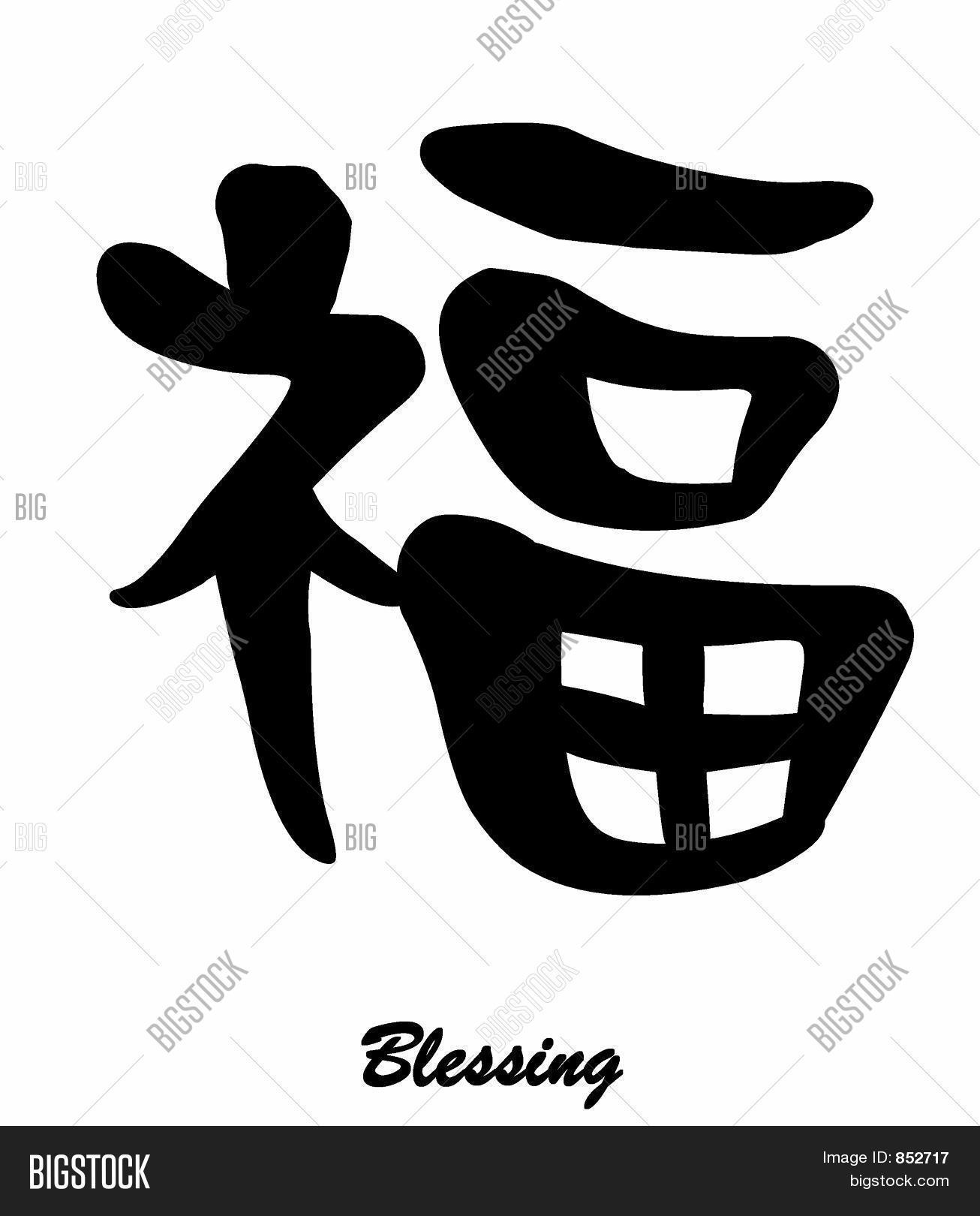 Blessing chinese calligraphy image photo bigstock blessing chinese calligraphy buycottarizona