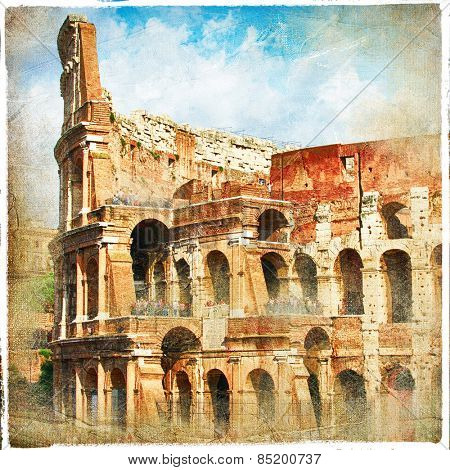 antique Colosseo - retro styled picture