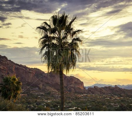 Camelback Mountain, valley canyon resort destination area, Scottsdale Phoenix,AZ,USA