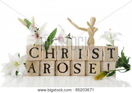 Alphabet blocks arranged to say,
