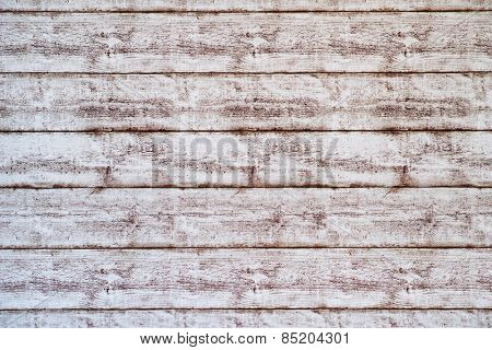 Close up Empty White Wooden Wall with Horizontal Orientation, Emphasizing Copy Space.