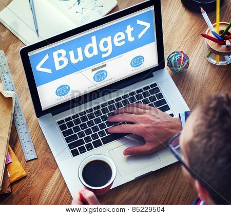 Digital Online Budget Finance Bookkeeping Office Working Concept