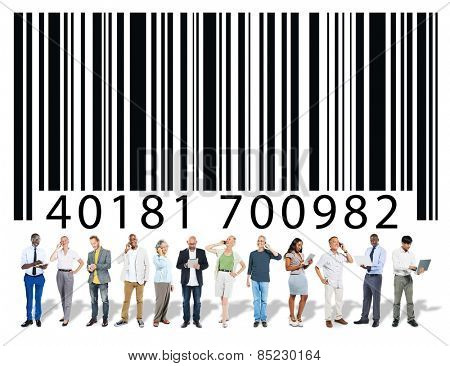 Bar Code Encoding Data People Discussion Meeting Concept