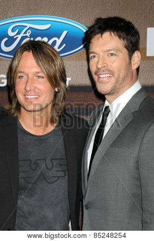 LOS ANGELES - MAR 11:  Keith Urban, Harry Connick Jr. at the