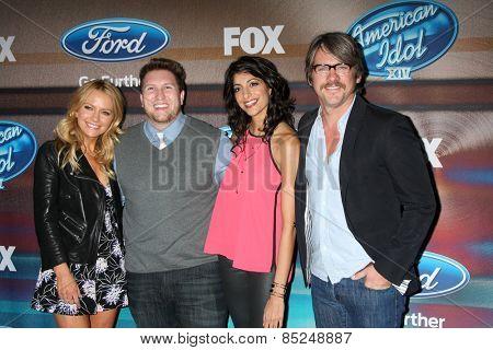 LOS ANGELES - MAR 11:  Becki Newton, Nate Torrence, Meera Rohit Kumbhani, Zachary Knighton at the