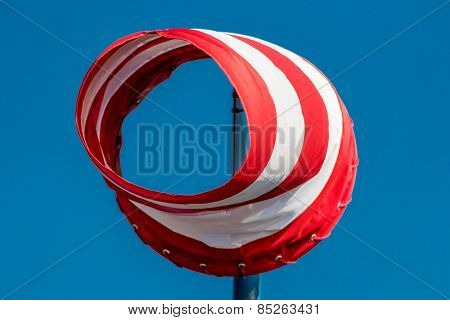 a windsock inflated by the wind. photo icon for power and success
