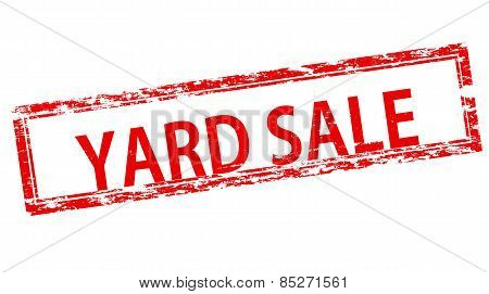 Stamp with text yard sale inside vector illustration poster