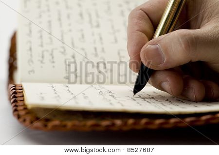 Writing In Old Book