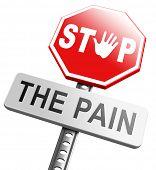 pain killer stop headache migraine, no more suffering painkiller paracetamol aspirine merphine medicine treatment prevention and therapy poster