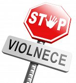 no violence or aggression stop violent or aggressive actions no war or fights prevention poster