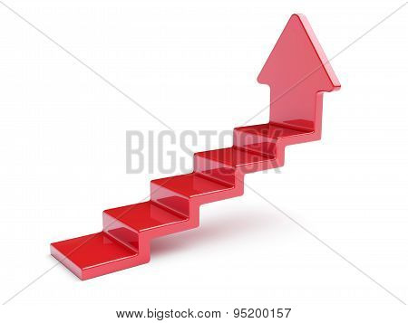 Red Up Arrow Stairs