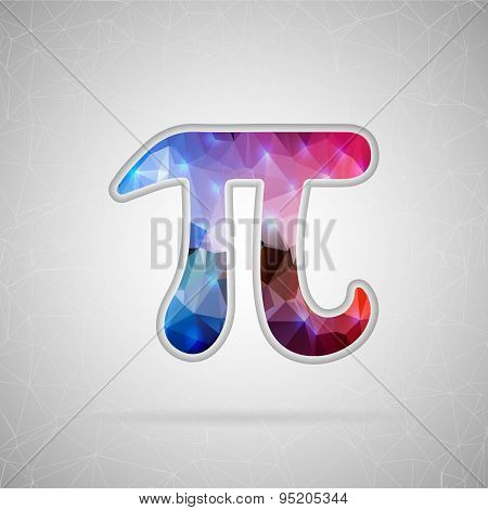 Abstract Creative concept vector icon of pi. For Web and Mobile applications isolated on background,