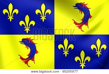 Flag Of Dauphine, France.
