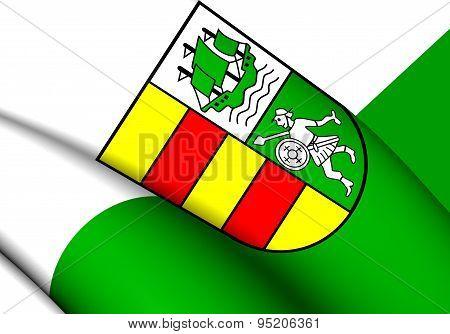 Flag Of Wesermarsch, Germany.