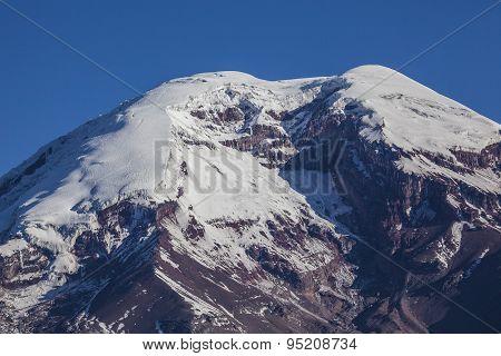 Chimborazo Volcano ice and rocks