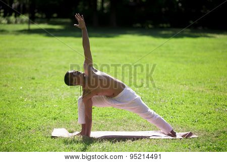 Extended Side Angle Pose In Park
