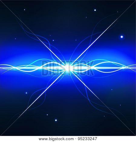 Deep space pulsar - editable vector graphic