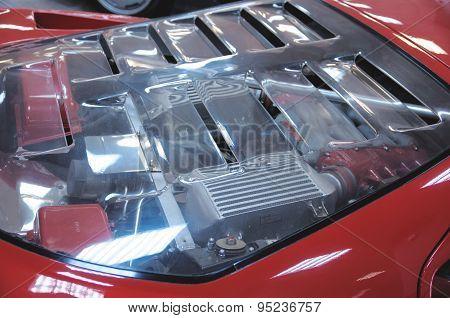 Hood of Ferrari F40