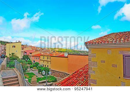 Villanova Monteleone On A Clear Summer Day