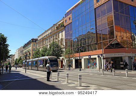 Avenue Jean Medecin, Main Shopping Street Of Nice, France