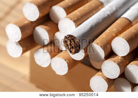 Cigarette With Brown Filter