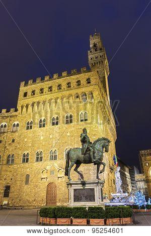 Palazzo Vecchio On Piazza Della Signoria In Florence In Italy