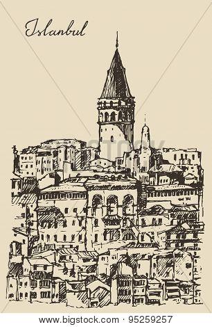 Istanbul, Turkey, City Architecture, Galata Tower