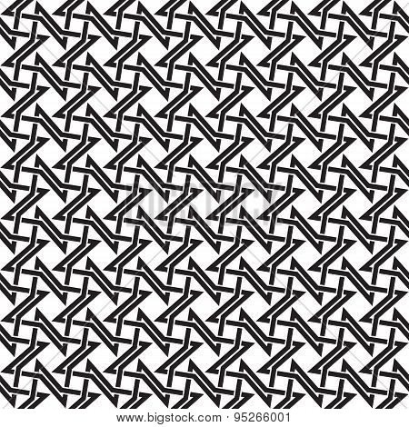 Seamless pattern of intersecting four-point stars