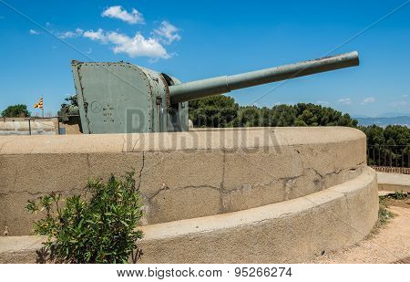 Montjuic Castle fortress on Jewish Mountain in Barcelona Spain poster